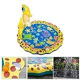 BelleLotus Sprinkler Play Matte, Outdoor Spielzeug Draußen Für Kinder, Aufblasbare Wasserspielmatte, Sommer Garten Wasserspielzeug Baby Pool Pad