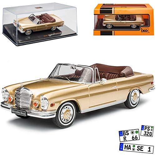 Mercedes-Benz S-Klasse W111 280SE 3.5 Cabrio Gold Beige 1959-1968 1/43 Ixo Modell Auto