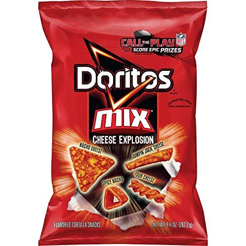 Doritos Mix Cheese Explosion Flavored Tortilla Snacks, 9.25 Ounce