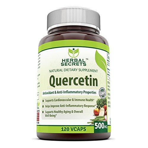 Herbal Secrets Quercetin 500 Mg Veggie Capsules