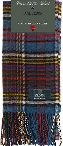 I Luv Ltd Anderson Modern Tartan Clan Scarf 100% Soft Lambswool