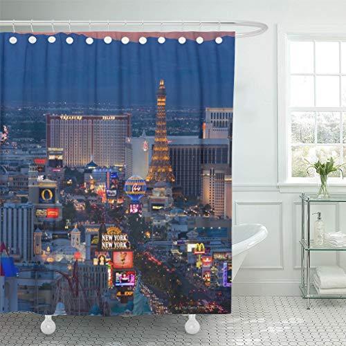 Vegas Landscape Shower Curtain