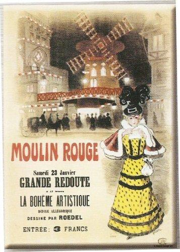 FRANSE VINTAGE METAAL SIGN 40X30cm FRANSE MOULIN ROUGE artistieke BOHEME