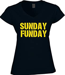 54cf2b28e America's Finest Apparel Black Pittsburgh Pennsylvania Sunday Funday  Football - Womens