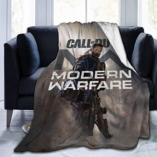 Manta cálida con estampado en 3D de Call-of-Duty Modern-Warfare 2019 súper suave y antipilling manta de franela de 152 x 127 cm