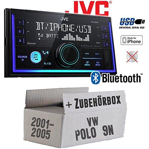 Autoradio Radio JVC KW-X830BT - Bluetooth MP3 USB - Einbauzubehör - Einbauset für VW Polo 9N - JUST SOUND best choice for caraudio