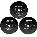 Mini scie circulaire à main Lot de 3Lame de scie Bois fine Ø85X 10X 1,5mm...