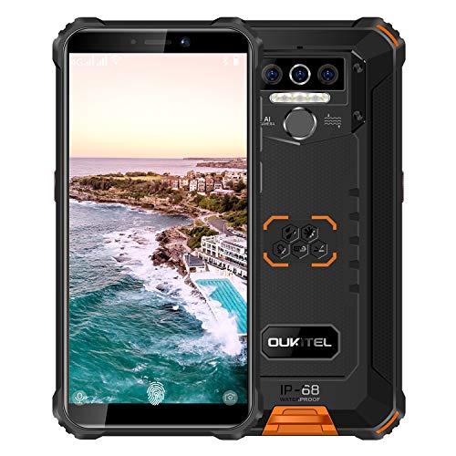 Rugged Smartphone Unlocked OUKITEL WP5(2020) Android 10.0 Dual Sim Cell Phone 4GB+32GB 8000mAh IP68 Waterproof 5.5