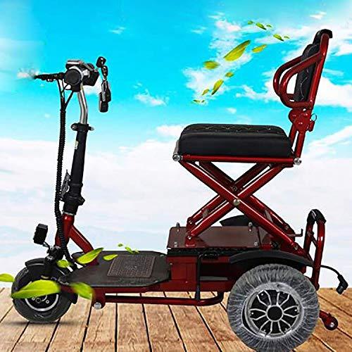 SZ-DDC Opvouwbare mobiliteit motorscooter voor volwassenen, vrije tijd scooter, lithium batterij, krachtige motor