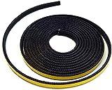 Joint de cheminée 3 m Ø 8 x 2 mm Cordon plat joint d'étanchéité auto-adhésif Compatible avec différents modèles de poêles Haas+fils