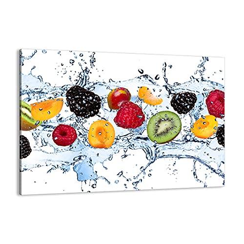 Cuadro sobre lienzo - Impresión de Imagen - Agua frutas alimentos frescos - 70x50cm - Imagen Impresión - Cuadros Decoracion - Impresión en lienzo - Cuadros Modernos - Lienzo Decorativo - AA70x50-2675