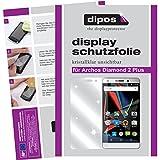 dipos I 6X Schutzfolie klar kompatibel mit Archos Diamond 2 Plus Folie Bildschirmschutzfolie