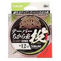 サンライン(SUNLINE) ナイロンライン CASTEST テーパー力糸投 75m #2-12 レッド