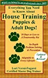 Everything You Need to Know About House Training Puppies and Adult Dogs: Housebreaking, Crate Training, Sample Schedules, and Designated Dog Potty Area Training for Puppies and Older Dogs