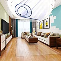 JINCHENJIAJU 床保護マット チェアマット デスク下マット 透明 PVC 傷防止 滑り止め カット可能 大判厚さ1.0mm,1.5mm,2.0mm,フロア/畳/床暖房対応/机下/オフィス 椅子,半透明/透明/花柄,カスタマイズ可能サイズ.透明2.0mm140cm*220cm
