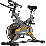 ROBDAE Spinning Bike Quiet Home Exercise Bike Indoor Exercise Pedal Bike Ab Trainer Sporting Equipment Ideal Trainer Exercise Bicycle (Color : Black, Size : 93.5x48.5x102cm)