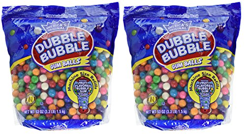 Dubble Bubble Gumball Refill 8 Flavors 33 lbs Pack Of 2