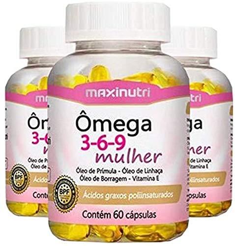 Ômega 3-6-9 Mulher - 3 unidades de 60 cápsulas - Maxinutri