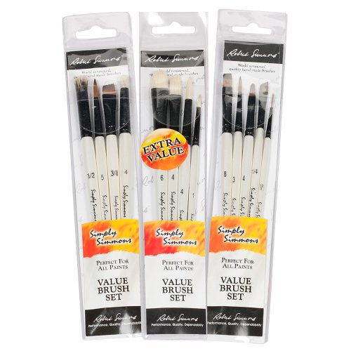 Robert Simmons Simply Simmons Value Brush Sets Everything, Generic, 1-Pack of 5