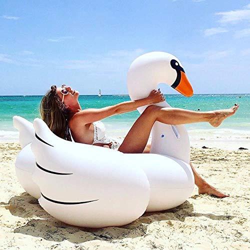 fish Flotador de Piscina de Cisne Blanco Gigante Anillo de natación Inflable Colchón de Agua Círculo Cool Holiday Party Toys
