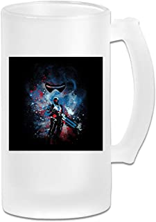 Printed 16oz Frosted Glass Beer Stein Mug Cup - Soldier 76 Art Ov-erwatch - Graphic Mug
