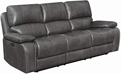 Amazon.com: Motion Sofa in Two Tone Dark Brown: Kitchen & Dining