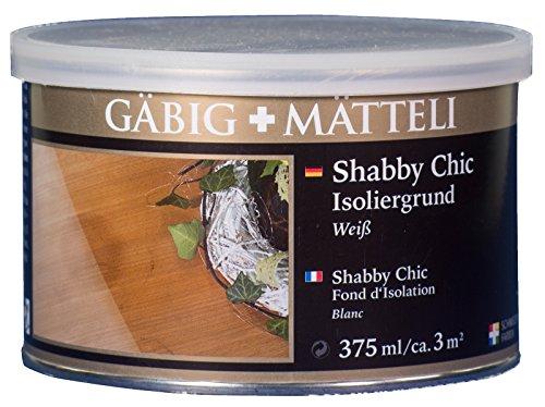 Gäbig+Mätteli Shabby Chic Isoliergrund 0,375L weiß