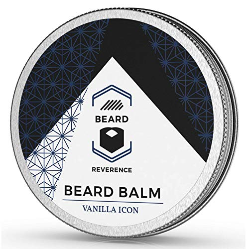 Price comparison product image Vanilla Beard Balm enhanced with Organic Tea Tree & Argan & Jojoba Oils All Natural Vanilla Scent Beard Butter Leave-in Conditioner to Shape,  Style,  Soften & Condition Beards and Mustaches