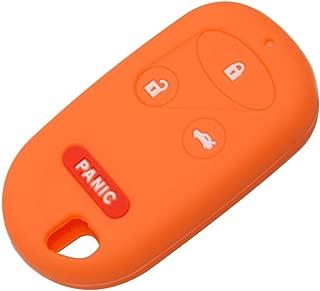 Colorful Silicone 4 Button Flip Folding Remote Car Key Cover Fob Case for Honda CRV S2000 Insight Prelude 3+1 Panic Protector Color Name Orange