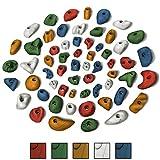 ALPIDEX 60 presas de Escalada para una Superficie de 4 a 8 m² Aprox, Color:Color Mezclado