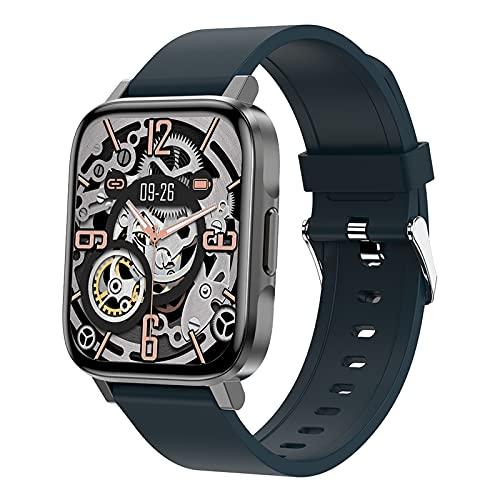 BNMY Reloj Inteligente, Pantalla 1.7' Smartwatch, Reloj Deportivo para Hombre Mujer, Pulsera Actividad con Monitor De Sueño Pulsómetro Podómetro, Notificación Inteligente, Impermeable IP68,Azul