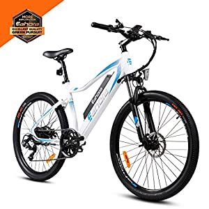 eAhora XC100 26 Inch 48V Mountain Electric Bikes for Adult 350W Cruise Control Urban Commuting Electric Bicycle Removable Lithium Battery, E-PAS Recharge System, Shimano 7-Speed Gear Shifts