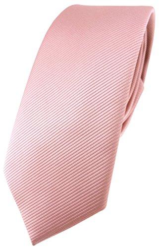 TigerTie Corbata de diseño estrecho en un solo color., rosa palo, Talla única