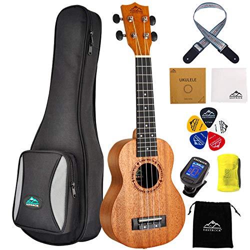 EASTROCK Yukulele, Ukulele, Kinder-Gitarre, 21 Zoll Sopran-Ukulele für Anfänger, Kinder, Schüler und mit Tasche und Plektrum, etc.