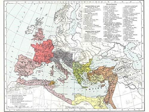 DFGJ Rompecabezas Mapa Atlas Histórico - Pastor Imperio Romano Alrededor de 1000 Piezas (75 * 50 cm)