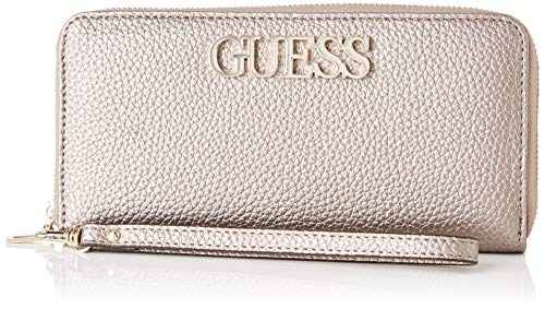 Guess Damen Uptown Chic SLG Lrg Zip Around Geldbeutel, Grau (Pewter), 2x10x21 Centimeters (W x H x L)