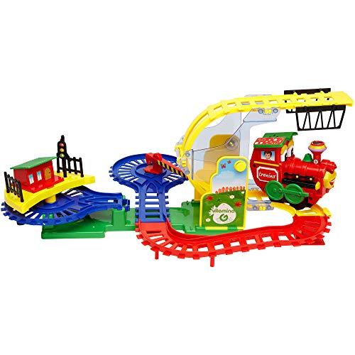 Globo S.P.A- Treno Comico con Luci Suoni, Multicolore, 850829