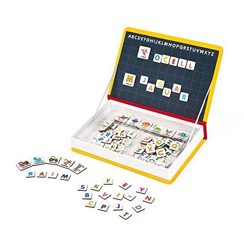 Janod - Magneti'Book Alfabeto - Juego Educativo Magnético de 142Piezas - Versión En Catalán - A partir de 3Años, J02722