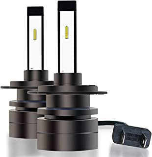 LEADTOPS H7 LED Headlight Bulbs Conversion Kit, 9000 Lumens Extremely Bright Mini LED Halogen Bulbs IP68 Waterproof High Performance Low Beam/Fog Light Bulb (Contains 2 Bulbs)