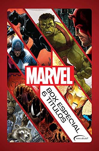 Box Marvel - 6 Títulos: Guerra Civil, Guardiões da Galáxia (Caos na Galáxia) , Demolidor (O Homem sem Medo), Homem-Aranha (A Última Caçada de Kraven), ... Negra), Planeta Hulk (Portuguese Edition)