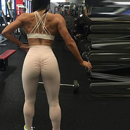 Scrunch dikke buik controle training panty,hoge taille push-up plus size gym yoga broek,sexy kleding Leggins sport dames-khaki_S,dames fitness hardlopen atletische trainingspakken