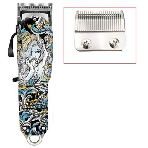 Le Nouveau Retro Oil Head Clipper Hair Salon Clipper spécial cheveux 18W haute puissance Gravure électrique Clipper Barber Shop professionnel raser la tête électrique Clipper Ajustable (Size : B)