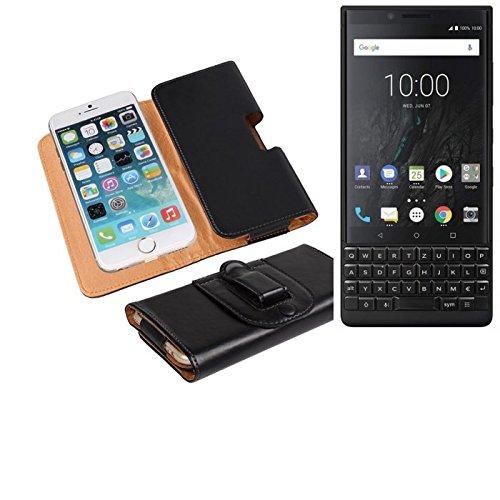 Für Blackberry KEY2 (Dual-SIM) Gürteltasche Holster Gürtel Tasche Schutzhülle Handy Tasche Schutz Hülle Smartphone Hülle Handytasche Seitentasche Quertasche Belt Bag Etui Schwarz Für Blackberry
