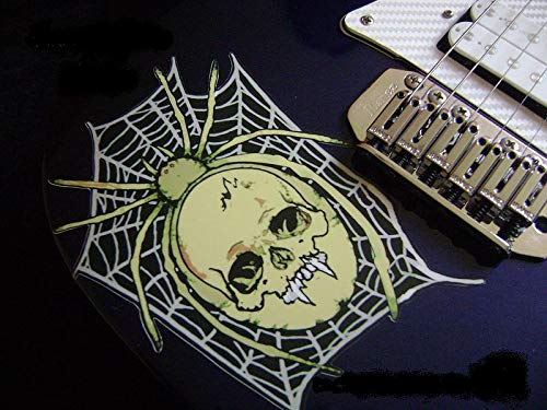 Spider Skull KH Guitar Stickers pegatinas Vinyl Guitar & Bass Body