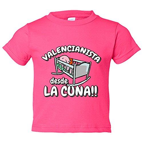 Camiseta niño Valencianista desde la cuna Valencia fútbol - Rosa, 5-6 años