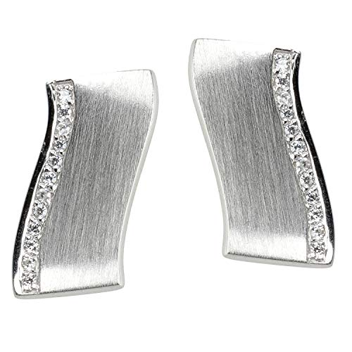VIVENTY Women's stud earrings made of 925 silver with white zirconia