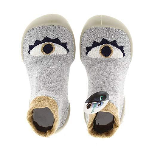Collegien Oeil Cosmique phospho Hausschuhe Socken grau Gr. 34/35