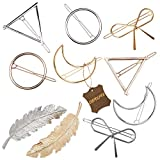 Gold Silver Minimalist Hair Clips