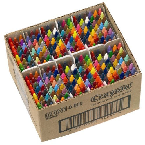 Crayola 288 Assorted Crayons Classpack, 72 colours