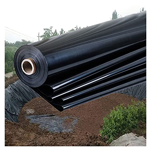 XXIOJUN Pond Liners, Heavy Duty Membrane Liner Cloth Large Fish Pond Liner Impermeable Film Tear-Resistant, Reinforced Landscaping For Koi Ponds, 25 Sizes (Color : 0.4mm/Black, Size : 2x6m)